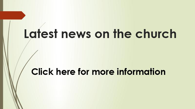 Latest news on the church